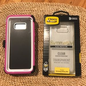 BUNDLE: Otterbox &Pink Case Samsung Galaxy S8 Plus